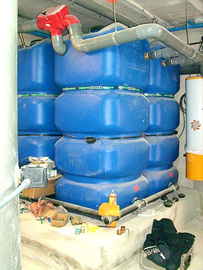 Instalacion casa eficiente - Recogida aguas pluviales ...
